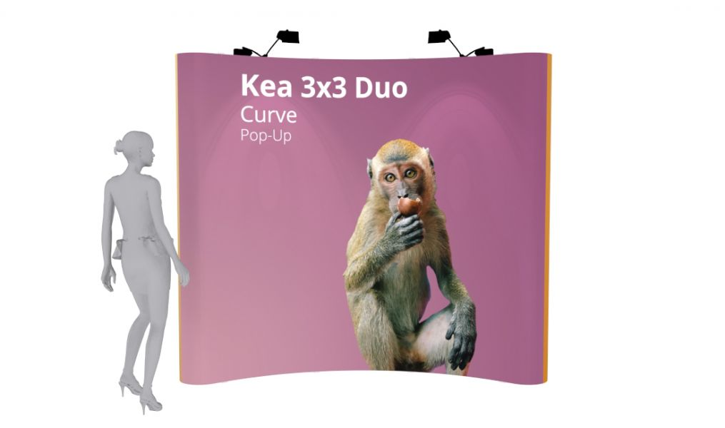 Pop Up Display: 3x3 Curve - Double Sided