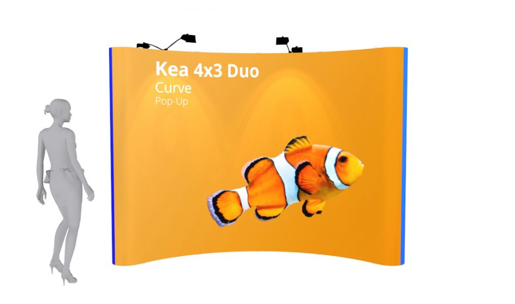 Pop Up Display: 4x3 Curve - Double Sided