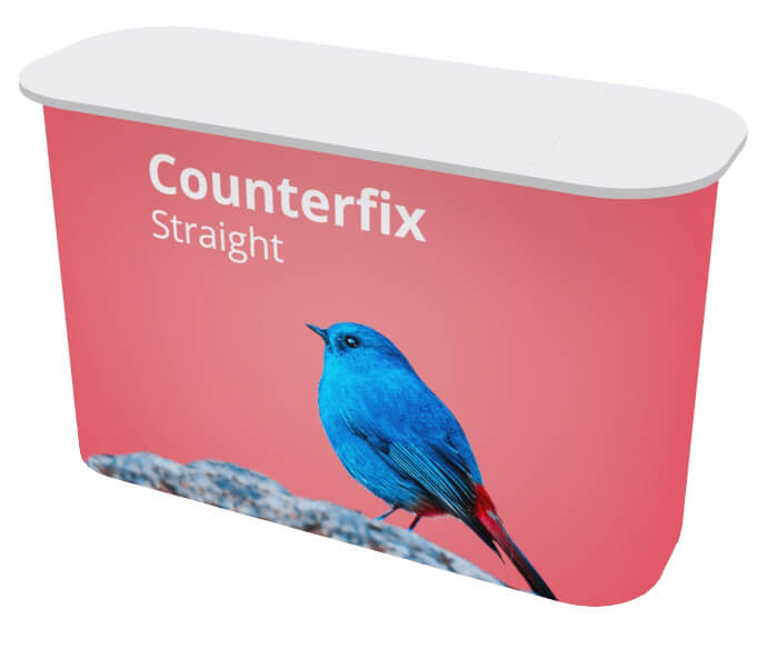 printed wrap-around  exhibition counters and display counters, in various sizes.