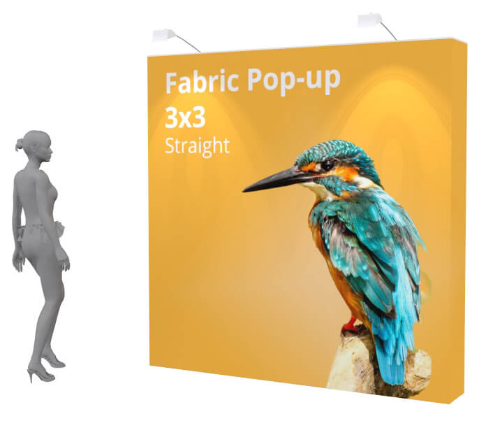 quick to assemble, pop up, fabric exhibition display